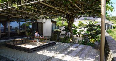 메기지마 해안가의 쉼터 – 류센소